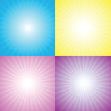 Starburst, sunburst Stock Image