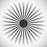 Starburst, sunburst background. Radial lines, stripes with circl. E at center. Simple monochrome backdrop suitable for print or web use. Can be used as a design Stock Images