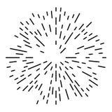 Starburst or Sunburst Design Element. Starburst or Sunburst Abstract Design Element. Vector illustration isolated on white Royalty Free Stock Photo