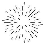 Starburst or Sunburst Design Element. Starburst or Sunburst Abstract Design Element. Vector illustration isolated on white Royalty Free Stock Photography