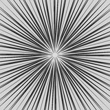 Starburst, sunburst element. Radial, radiating lines intersect a. T center. Abstract monochrome illustration - Royalty free vector illustration Stock Images