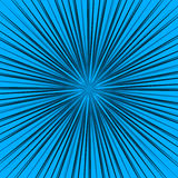 Starburst, sunburst element. Radial, radiating lines intersect a. T center. Abstract monochrome illustration - Royalty free vector illustration Royalty Free Stock Photo