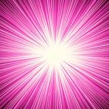 Starburst, sunburst, promienie światło element Kurenda, promieniowy Lin ilustracji