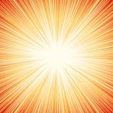 Starburst, sunburst, promienie światło element Kurenda, promieniowy Lin ilustracja wektor