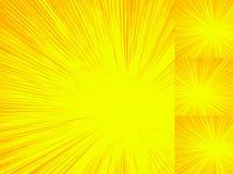 Starburst, sunburst, rays of light element. Circular, radial lin stock illustration
