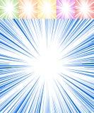 Starburst, sunburst, rays of light element. Circular, radial lin Stock Photos