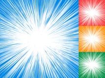 Starburst, sunburst, rays of light element. Circular, radial lin Royalty Free Stock Image