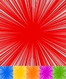 Starburst, sunburst, rays of light element. Circular, radial lin royalty free illustration