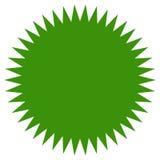 Starburst sunburstform Plan prislapp, prålig symbol för pris stock illustrationer