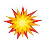 Starburst symbol, tecknad filmstil royaltyfri illustrationer
