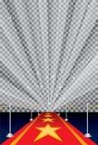 Starburst trans red carpet Royalty Free Stock Images
