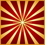 Starburst vermelho do ouro com estrela do centro Fotos de Stock Royalty Free