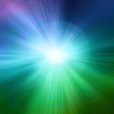 Starburst zieleni abstrakta tło Zdjęcie Royalty Free