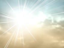 Starburst - zonnestraal - uitstekende hemelachtergrond royalty-vrije illustratie