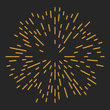 Starburst of Zonnestraalontwerpelement Stock Fotografie