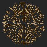 Starburst of Zonnestraalontwerpelement Royalty-vrije Stock Foto
