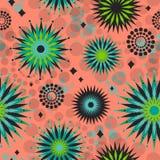 starbursts картины ретро безшовные Стоковые Изображения RF