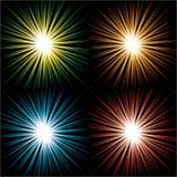 Starbursts royalty-vrije illustratie