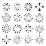 Starbursts black symbols Royalty Free Stock Photo