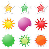 Starbursts illustrations Royalty Free Stock Photography