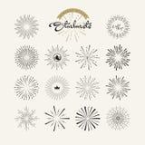 Starbursts rocznika stylu projekta elementy dla grafiki i sieci projekta royalty ilustracja