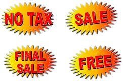 Starburts; Sales. Four starburts: No Tax, Sale, Final Sale, FREE Stock Photos
