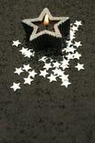 Starcandle med kopierar utrymme Arkivfoto