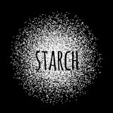 Starch in the form of white powder vector illustration Stock Images