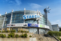 Starcité Cinéma  Montréal. Cinema modern multiplex with 17 screens (including 3D) with recent blockbusters Royalty Free Stock Images