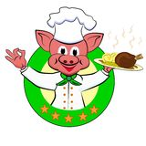 Starcook Piggy Royalty Free Stock Images