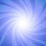 Stardust. Abstract spiral stardust background, vector illustration Stock Image