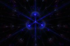 Stardust abstrato no fundo escuro Imagem de Stock Royalty Free