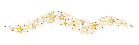 Stardust. As a decoration element for christmas Stock Photography