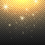 Stardust backdrop with transparent background. Stardust sparkly backdrop with starfall or glitter star rain with transparent background vector illustration Stock Photos