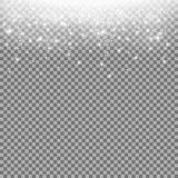 Stardust de brilho, partículas efervescentes, cor branca ilustração do vetor