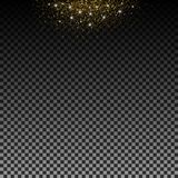 Stardust gold. Particles shimmer brilliance. Glowing stars. Decoration for new year Christmas holiday, confetti. Vector isolated. vector illustration