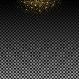 Stardust guld Partiklar skimrar begåvning glödande stjärnor Garnering för jul ferie, konfetti för nytt år Isolerad vektor vektor illustrationer