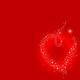 Stardust heart Royalty Free Stock Image