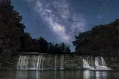 Stardust Over the Upper Cataract - Indiana Royalty Free Stock Photos