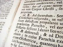 stare łacińskie Obrazy Royalty Free
