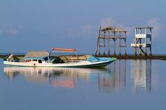 Stare łodzie w płyciznach zdjęcia royalty free