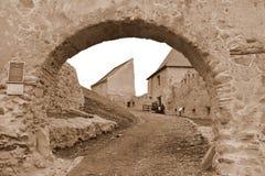 Stare ściany średniowieczni Rupea rypsy forteczni w Transylvania, Rumunia obrazy stock