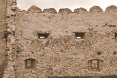 Stare ściany średniowieczni Rupea rypsy forteczni w Transylvania, Rumunia zdjęcia stock