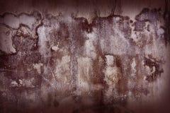 Stare ściany z zmrokiem - czerwień cienie Obraz Royalty Free