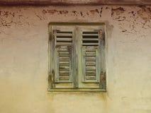 Stare żaluzje 24 zamykać Fotografia Royalty Free
