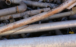 Stare żelazo drymby i inny ferrous materiał Obrazy Royalty Free