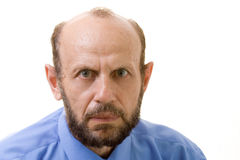 Stare. Senior man staring at you Stock Image