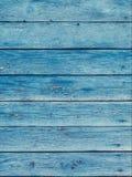 Stare błękitne podławe drewniane deski z krakingowym kolorem malują Zdjęcie Royalty Free
