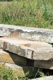 Stare betonowe płyty Miejsce dla twój teksta zdjęcie stock