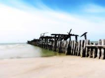Stare bridżowe resztki, Lithuania Fotografia Stock